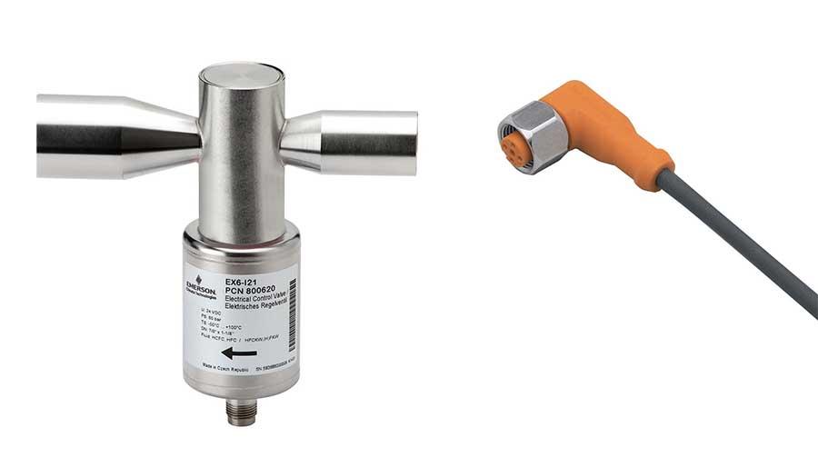 Elektronický expanzní ventil a kabel, propan